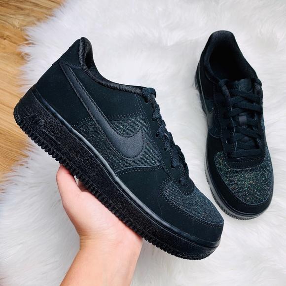 Nike Shoes Air Force 1 Lv8 Black Glitter Poshmark